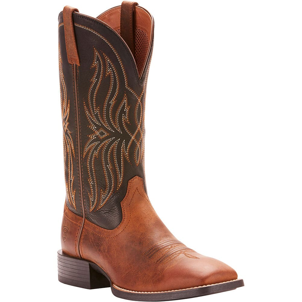 Image for Ariat Men's Sport Rustler Western Boots - Brute Brown/Black from bootbay
