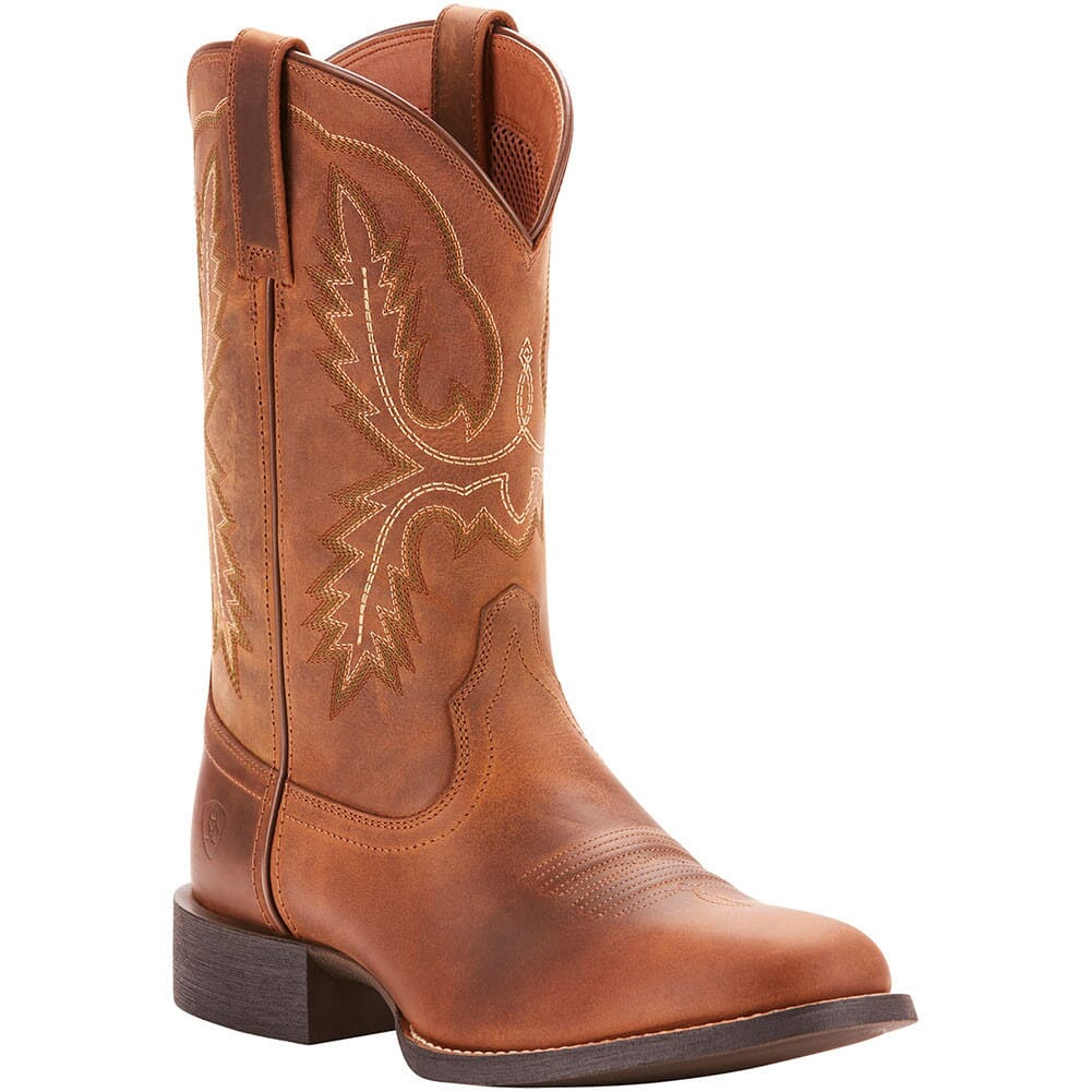 Image for Ariat Men's Sport Stratten Western Boots - Distressed Brown from bootbay