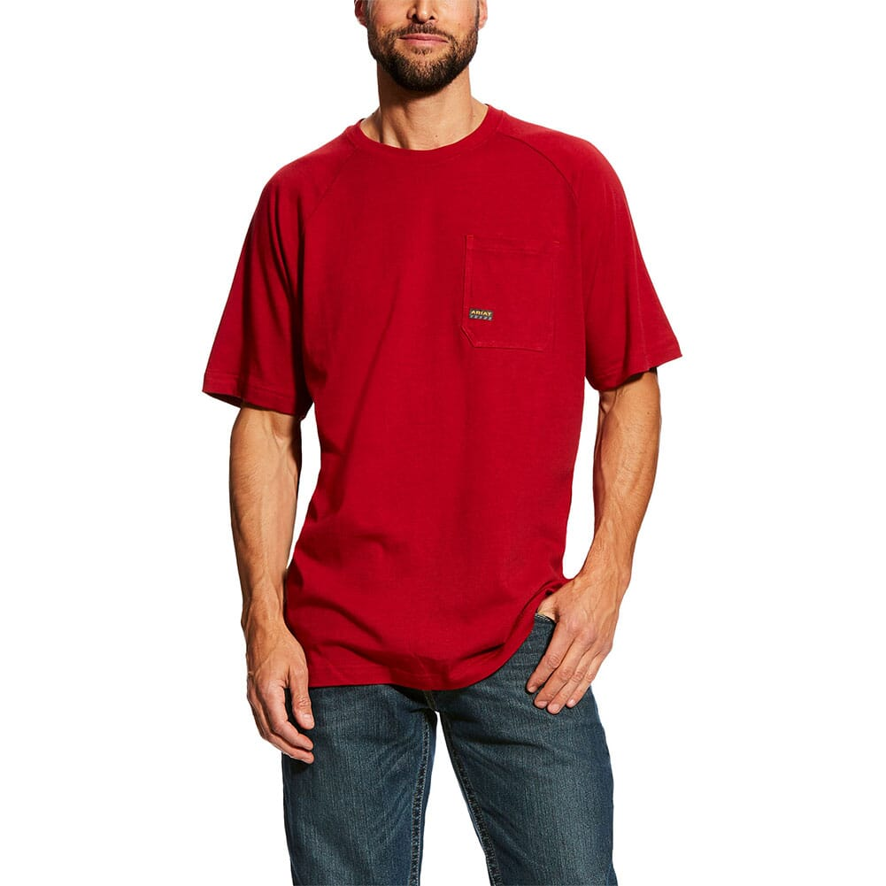 Image for Ariat Men's Rebar Cottonstrong SS Crew - Rio Red from bootbay