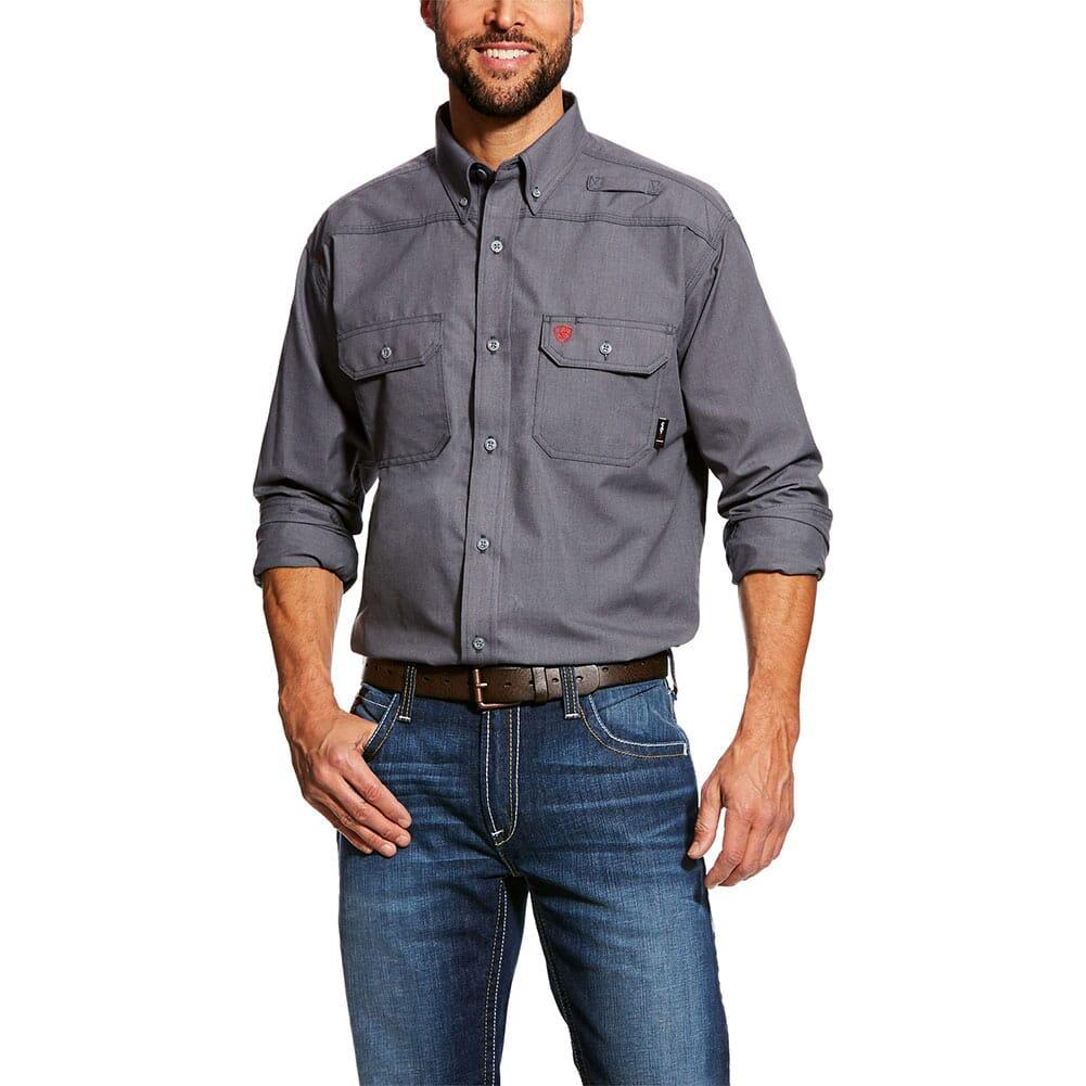 Image for Ariat Men's FR Featherlight Work Shirt - Gunmetal from bootbay