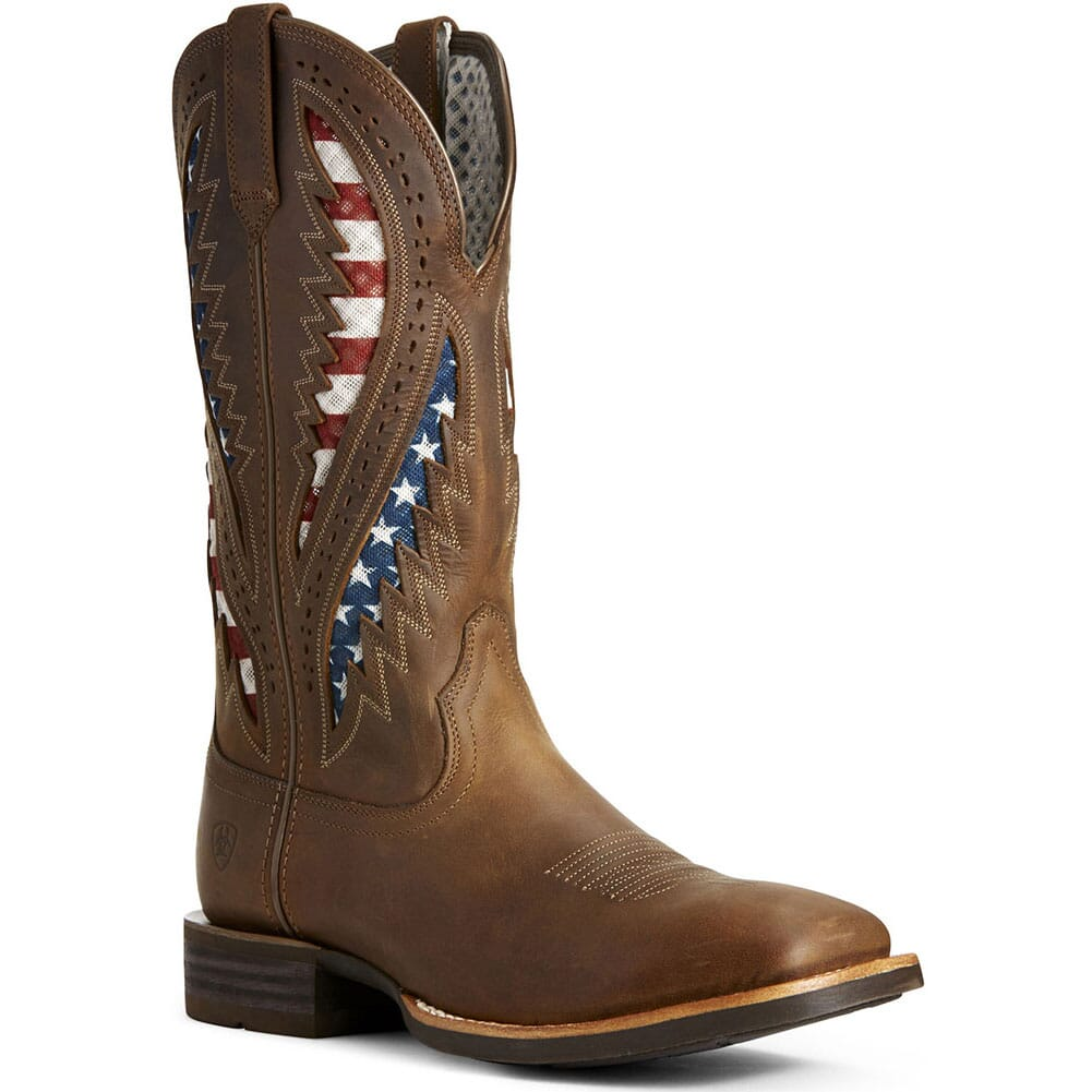 Image for Ariat Men's Quickdraw VentTEK Western Boots - Distressed Brown from bootbay