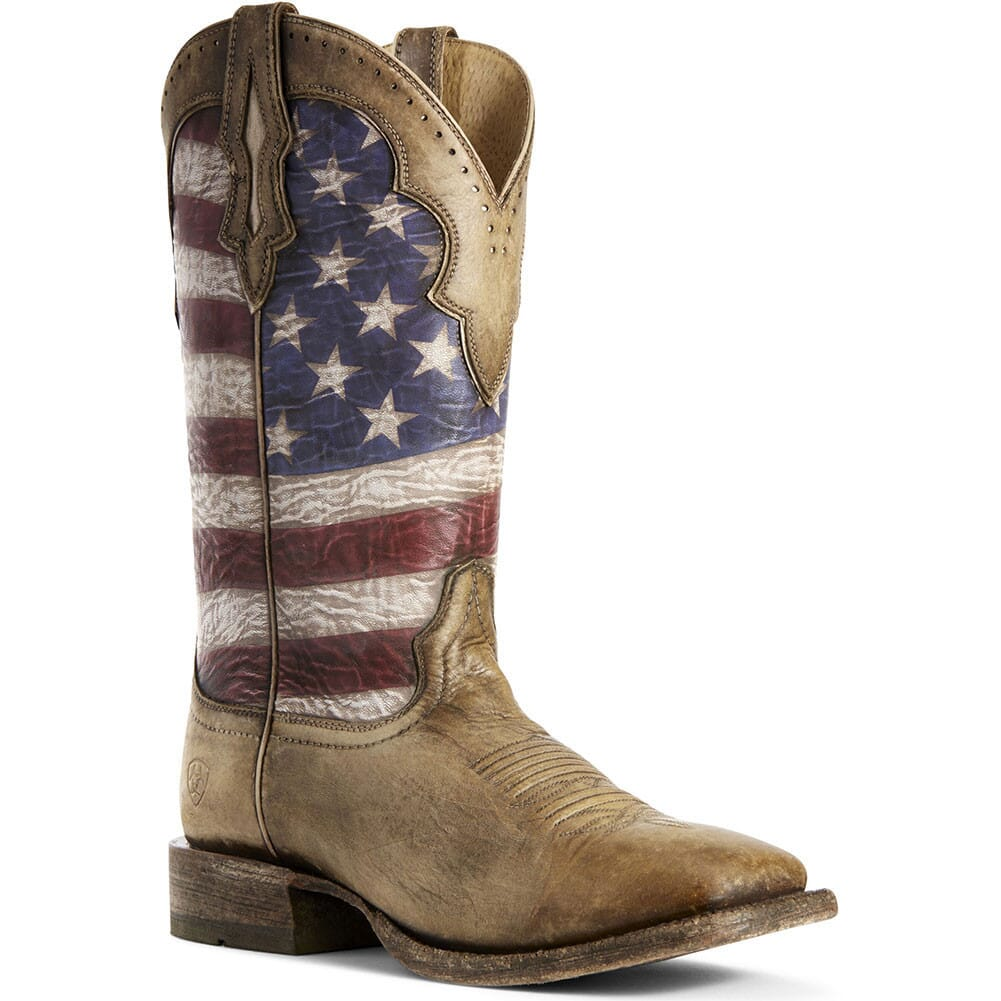 Image for Ariat Men's Ranchero Western Boots - Stars and Stripes/Brown from bootbay