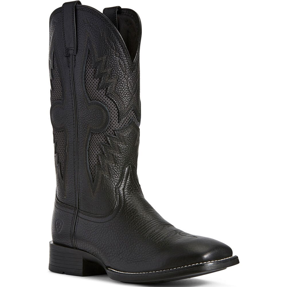 Image for Ariat Men's Solado VentTEK Western Boots - Black Carbon from bootbay