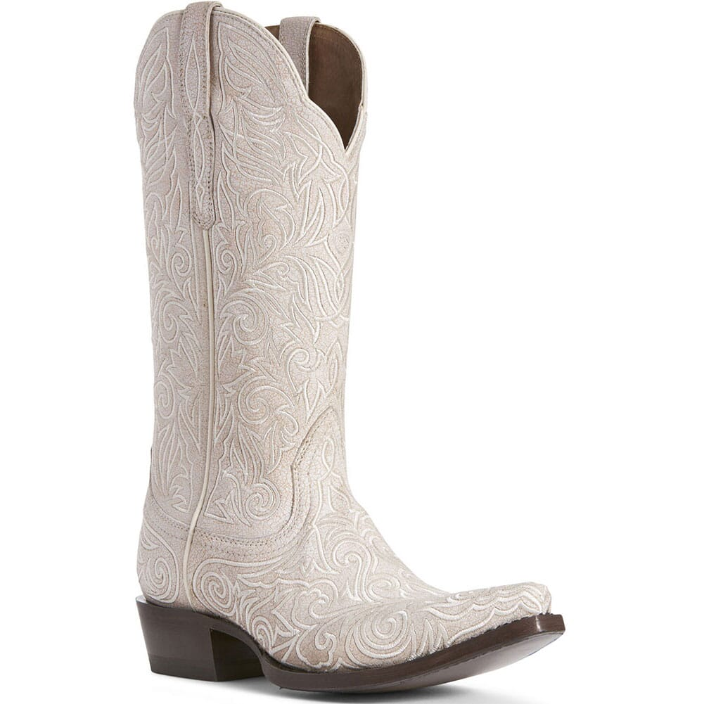 Image for Ariat Women's Sterling Western Boots - Crackled White from elliottsboots