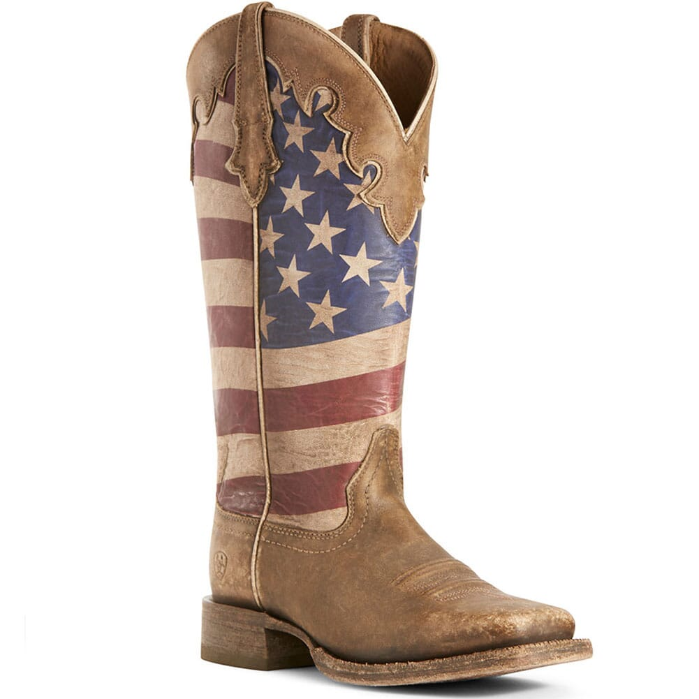 Image for Ariat Women's Ranchero Western Boots - Stars and Stripes/Naturally Brow from elliottsboots