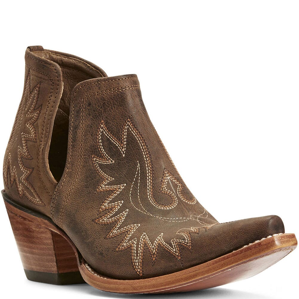 Image for Ariat Women's Dixon Western Boots - Weathered Brown from elliottsboots