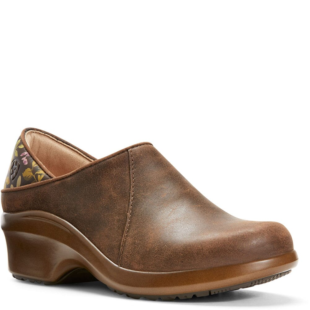 Image for Ariat Women's Hera Expert Work Clogs - Antique Brown from elliottsboots
