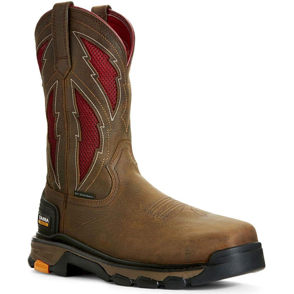Image for Ariat Men's Intrepid VentTek Lightning Safety Boots - Rye Brown from bootbay