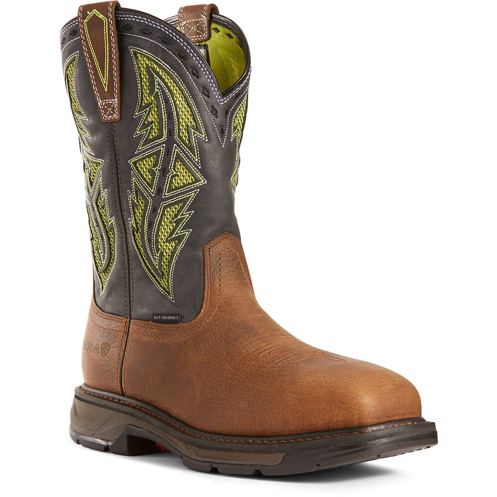 Image for Ariat Men's WorkHog XT VentTEK Spear Safety Boots - Rye Brown from bootbay
