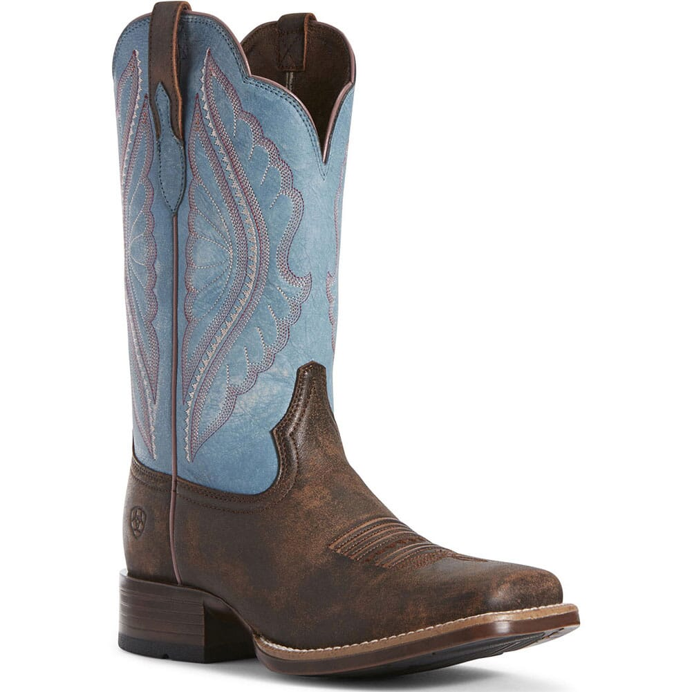 Image for Ariat Women's Primetime Tack Western Boots - Chocolate/Blue from bootbay