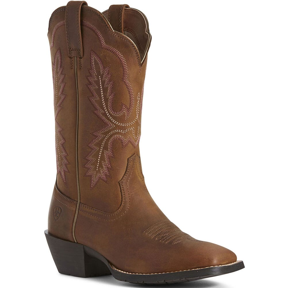 Image for Ariat Women's Hybrid Rancher Crossfire Western Boots - Brown from elliottsboots