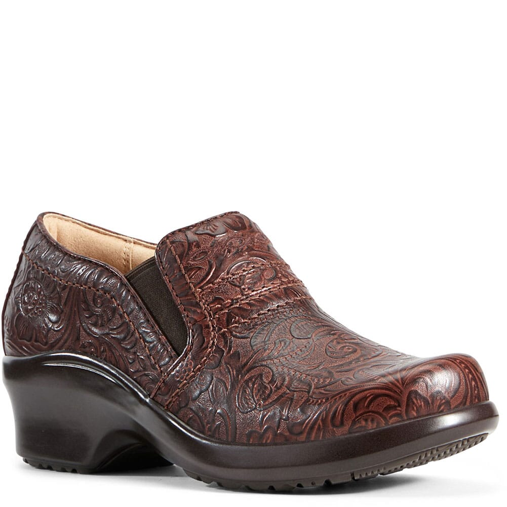 Image for Ariat Women's Expert SD Safety Clogs - Tooled Brown from bootbay