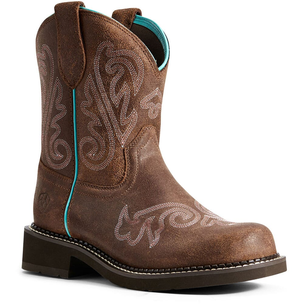 Image for Ariat Women's Fatbaby Heritage Heavenly Western Boots - Brushed Brown from elliottsboots