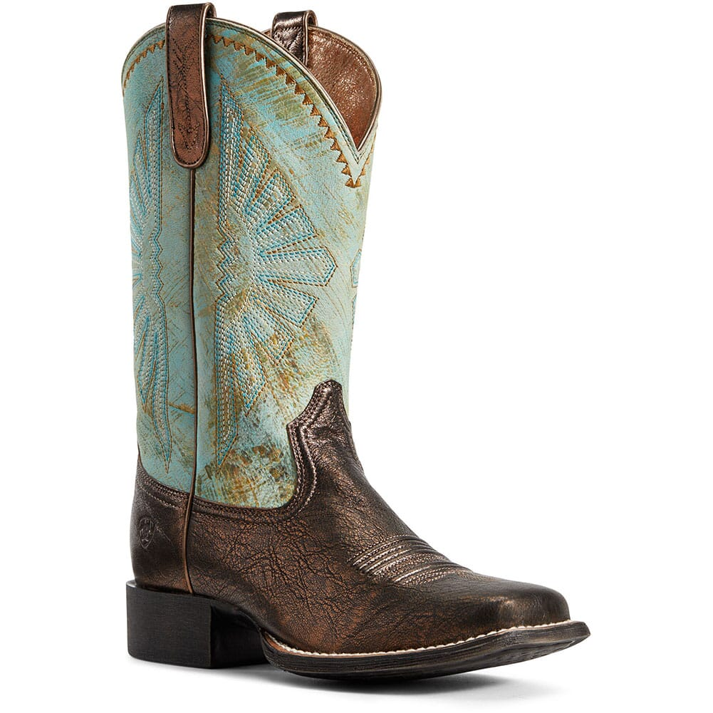 Image for Ariat Women's Round Up Rio Western Boots - Dark Bronze from elliottsboots