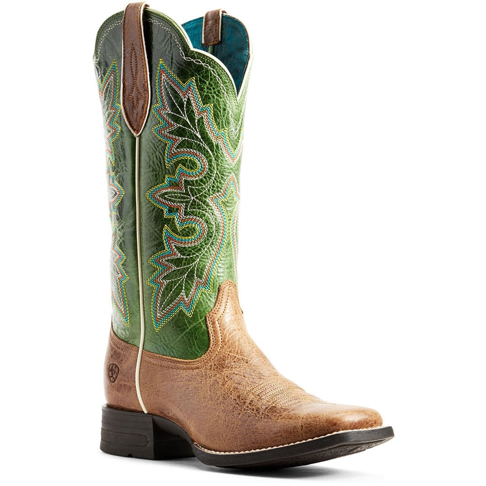 Image for Ariat Women's Breakout Western Boots - Dark Tan/Treetop Green from elliottsboots