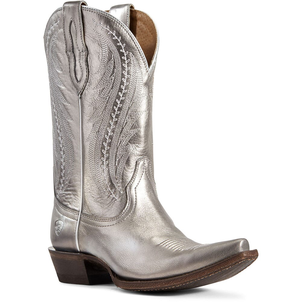 Image for Ariat Women's Tailgate Western Boots - Silver Metallic from elliottsboots