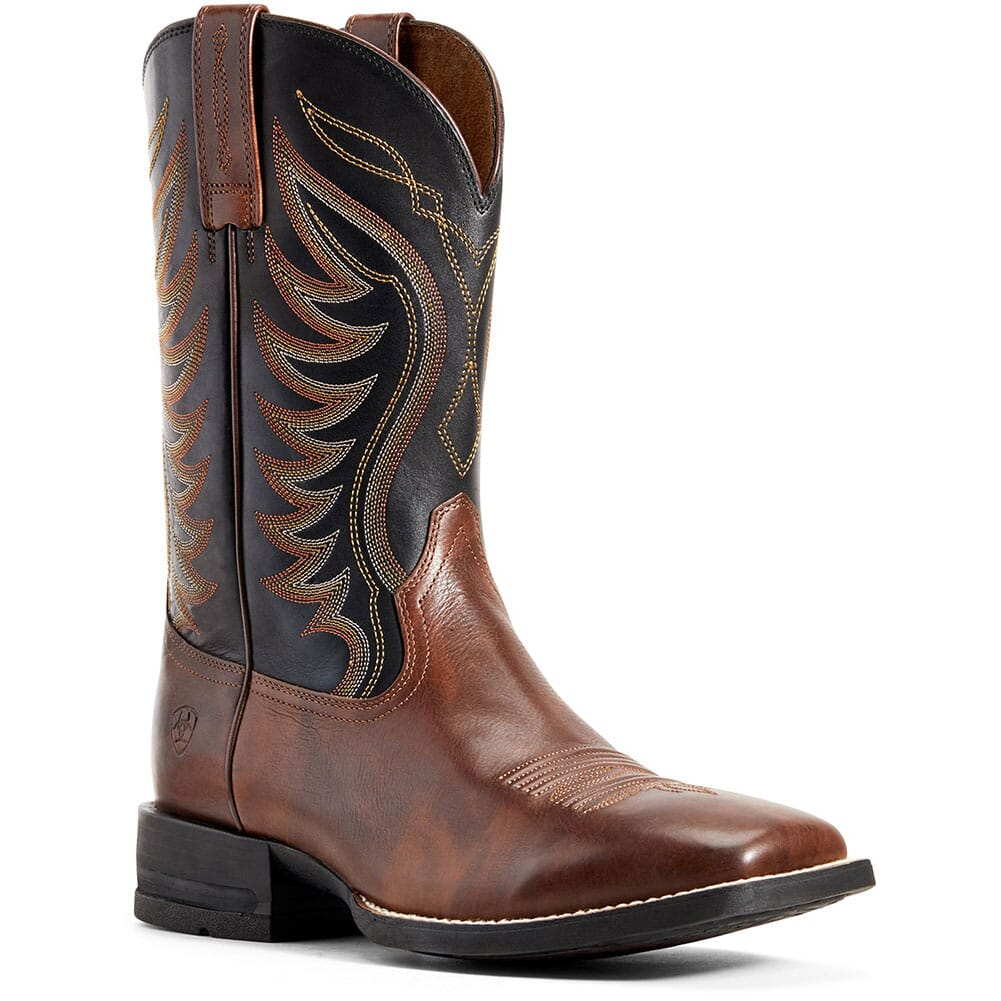 Image for Ariat Men's Amos Western Boots - Hand Stained Red Brown from bootbay