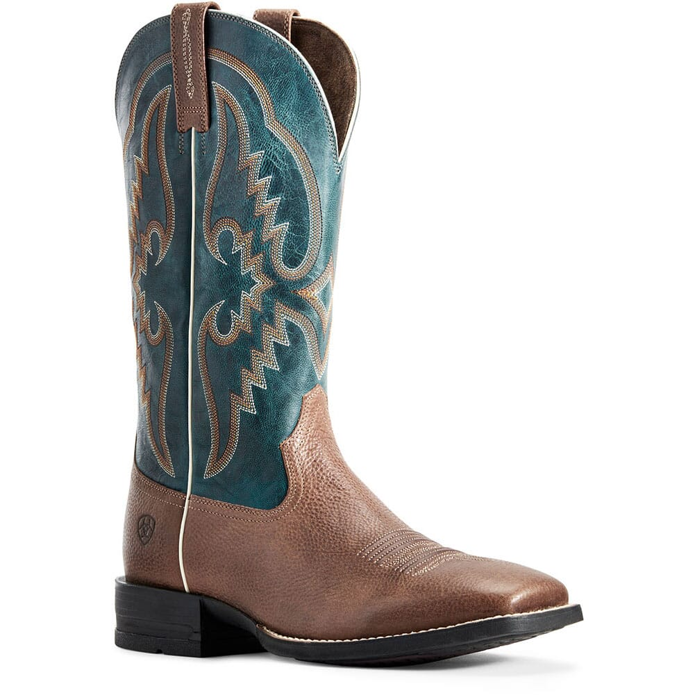 Image for Ariat Men's Round Pen Western Boots - Clean Saddle from bootbay