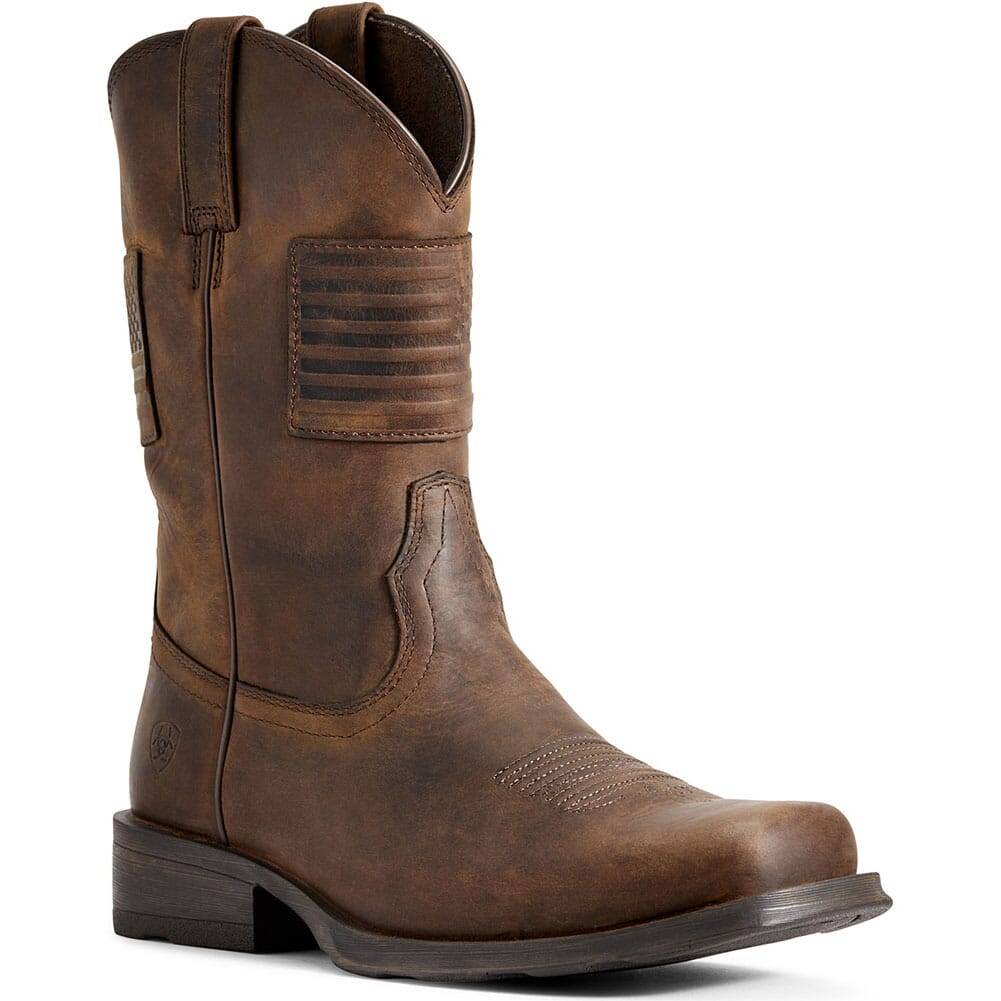Image for Ariat Men's Rambler Patriot Western Boots - Brown from bootbay