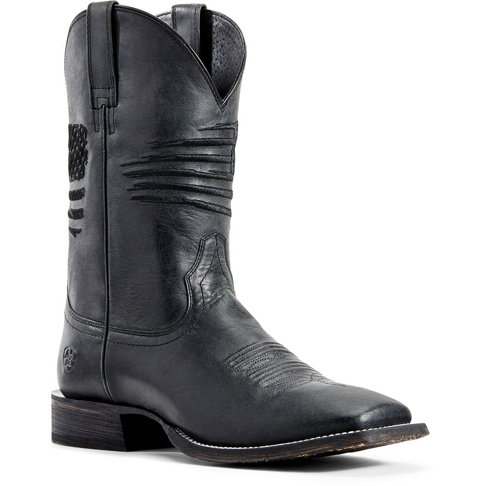 Image for Ariat Men's Circuit Patriot Western Boots - Black Carbon from bootbay