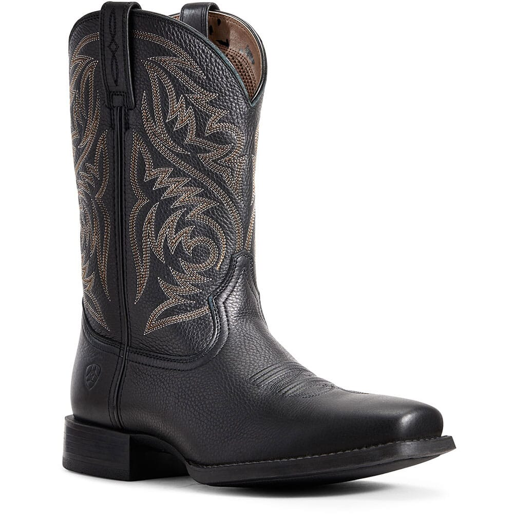 Image for Ariat Men's Sport Herdsman Western Boots - Black from bootbay