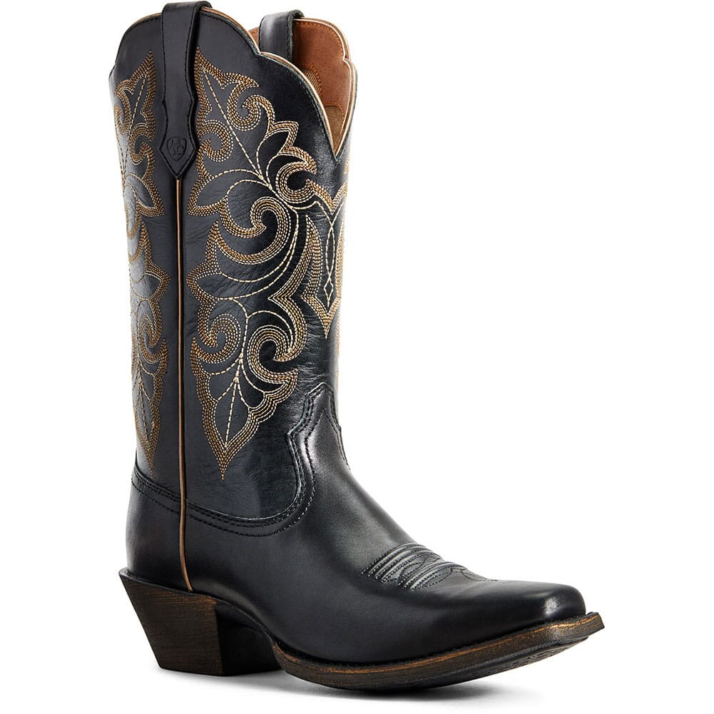 Image for Ariat Women's Round Up Western Boots - Limousine Black from bootbay