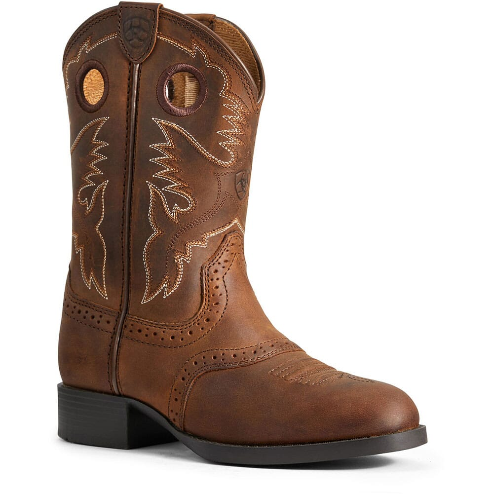 Image for Ariat Kid's Heritage Stockman Western Boots - Distressed Brown from bootbay