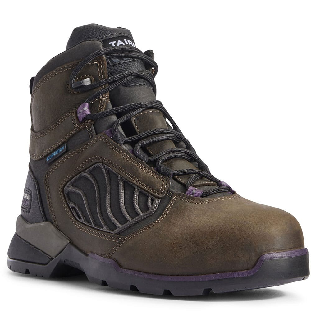 Image for Ariat Women's Rebar Flex WP Safety Boots - Dark Brown from bootbay