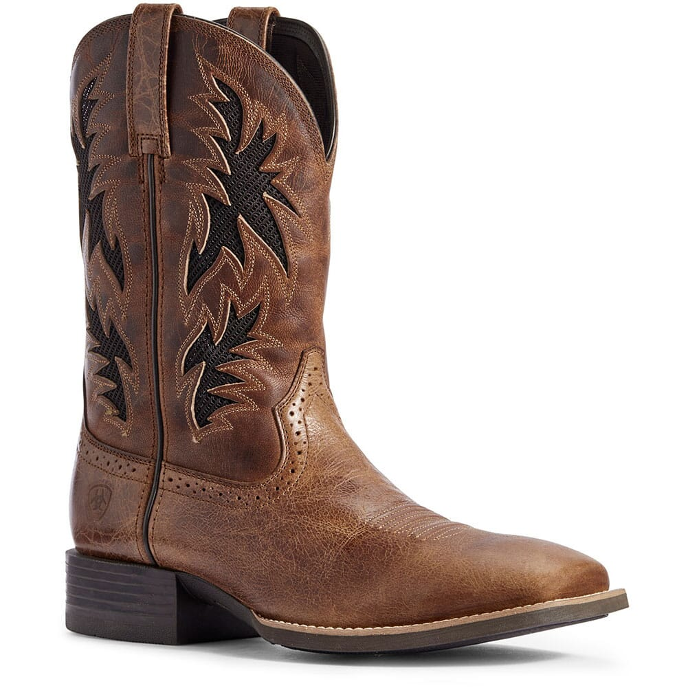 Image for Ariat Men's Sport Cool VentTEK Western Boots - Dark Tan from bootbay