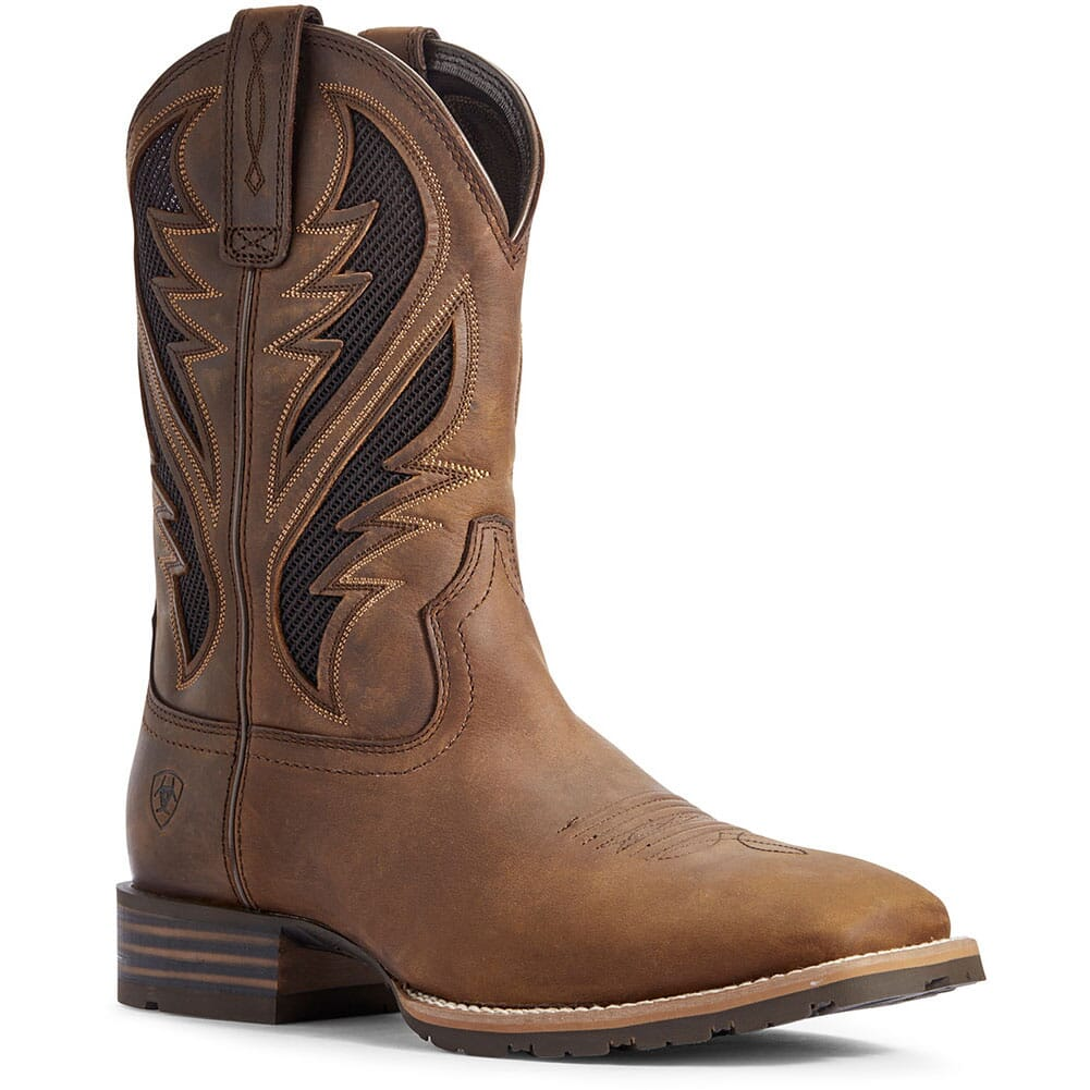 Image for Ariat Men's Hybrid VentTEK Western Boots - Distressed Tan from bootbay