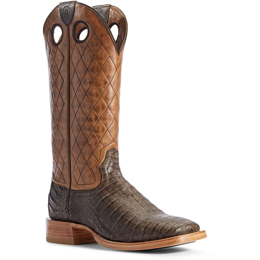 Image for Ariat Men's Relentless Winner's Circle Western Boots - Chocolate Caiman from bootbay