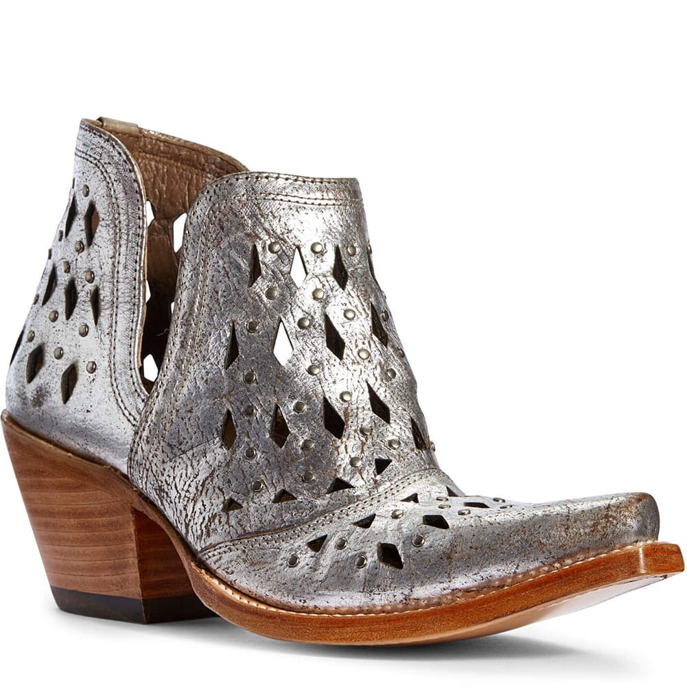 Image for Ariat Women's Dixon Studded Western Boots - Silver Metallic from elliottsboots