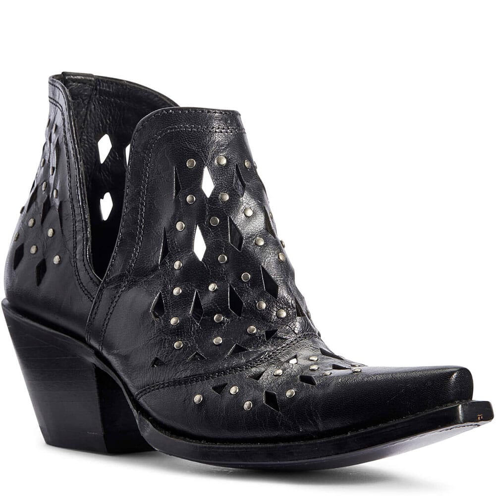 Image for Ariat Women's Dixon Studded Western Boots - Black from elliottsboots