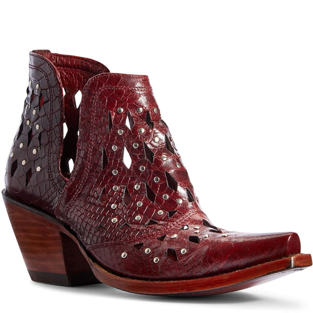 Image for Ariat Women's Dixon Studded Western Boots - Red Snake from elliottsboots