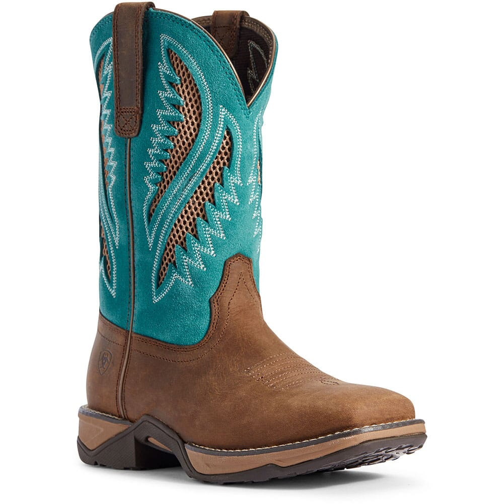 Image for Ariat Women's Anthem VentTEK Western Boots - Chocolate Chip from bootbay