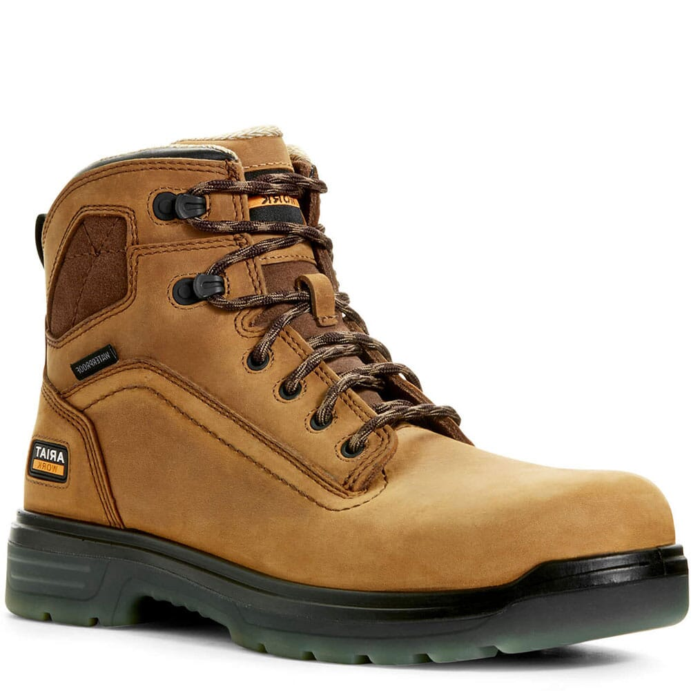 Image for Ariat Men's Turbo Waterproof Work Boots - Aged Bark from bootbay