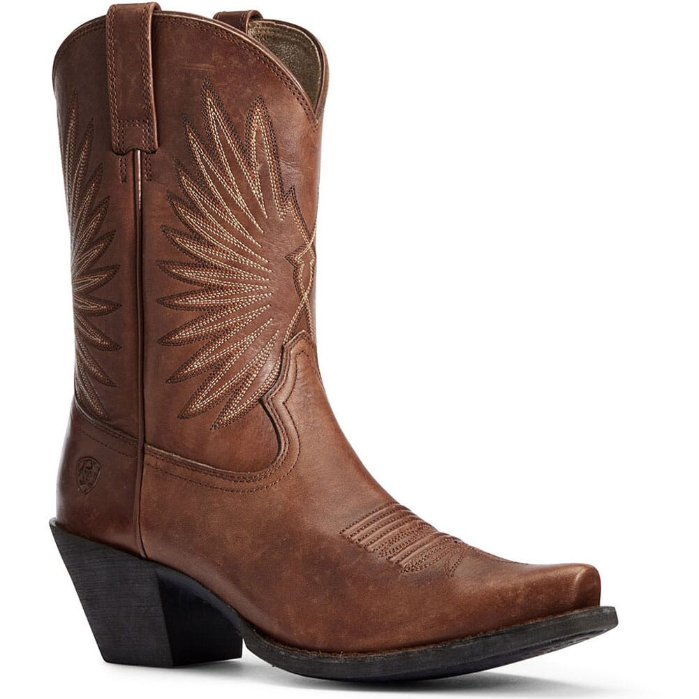 Image for Ariat Women's Goldie Western Boots - Distressed Cognac from elliottsboots