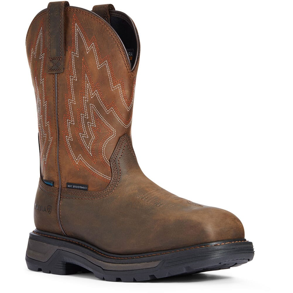 Image for Ariat Men's Big Rig Waterproof Safety Boots - Dark Brown from bootbay