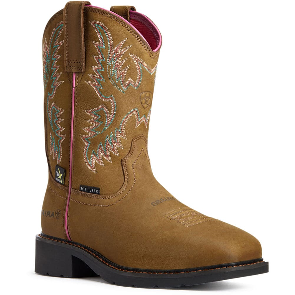 Image for Ariat Women's Krista MetGuard Safety Boots - Dark Brown from elliottsboots