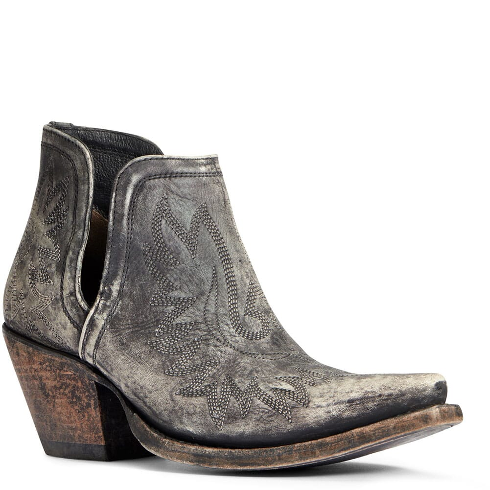 Image for Ariat Women's Dixon Western Boots - Naturally Distressed Black from bootbay