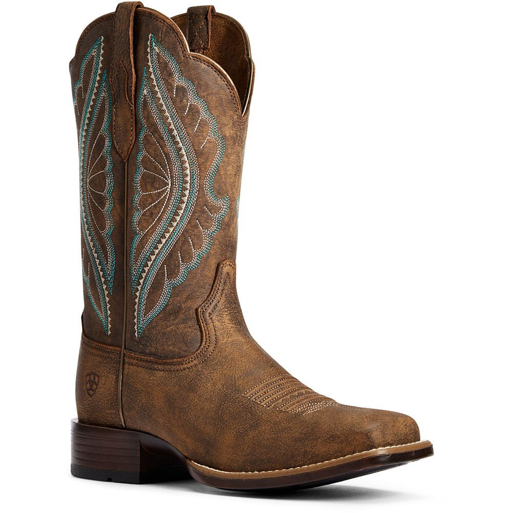 Image for Ariat Women's Primetime Tack Western Boots - Tack Room Brown from bootbay