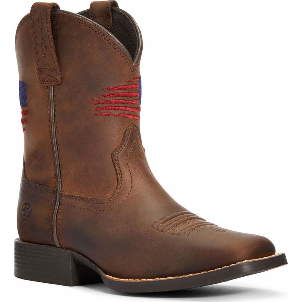 Image for Ariat Kid's Patriot II Western Boots - Distressed Brown from bootbay