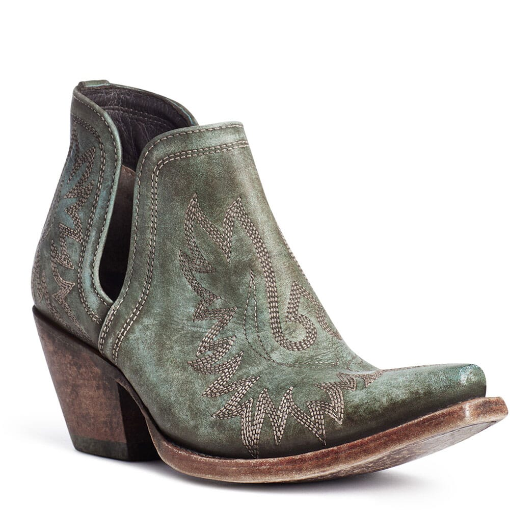 Image for Ariat Women's Dixon Western Boots - Distressed Turquoise from elliottsboots