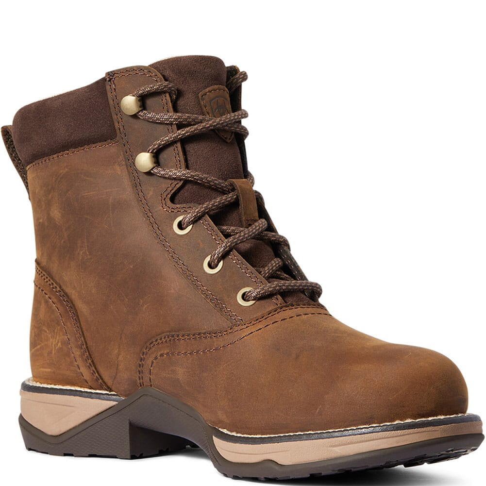 Image for Ariat Women's Anthem Waterproof Lacer Boots - Distressed Brown from elliottsboots