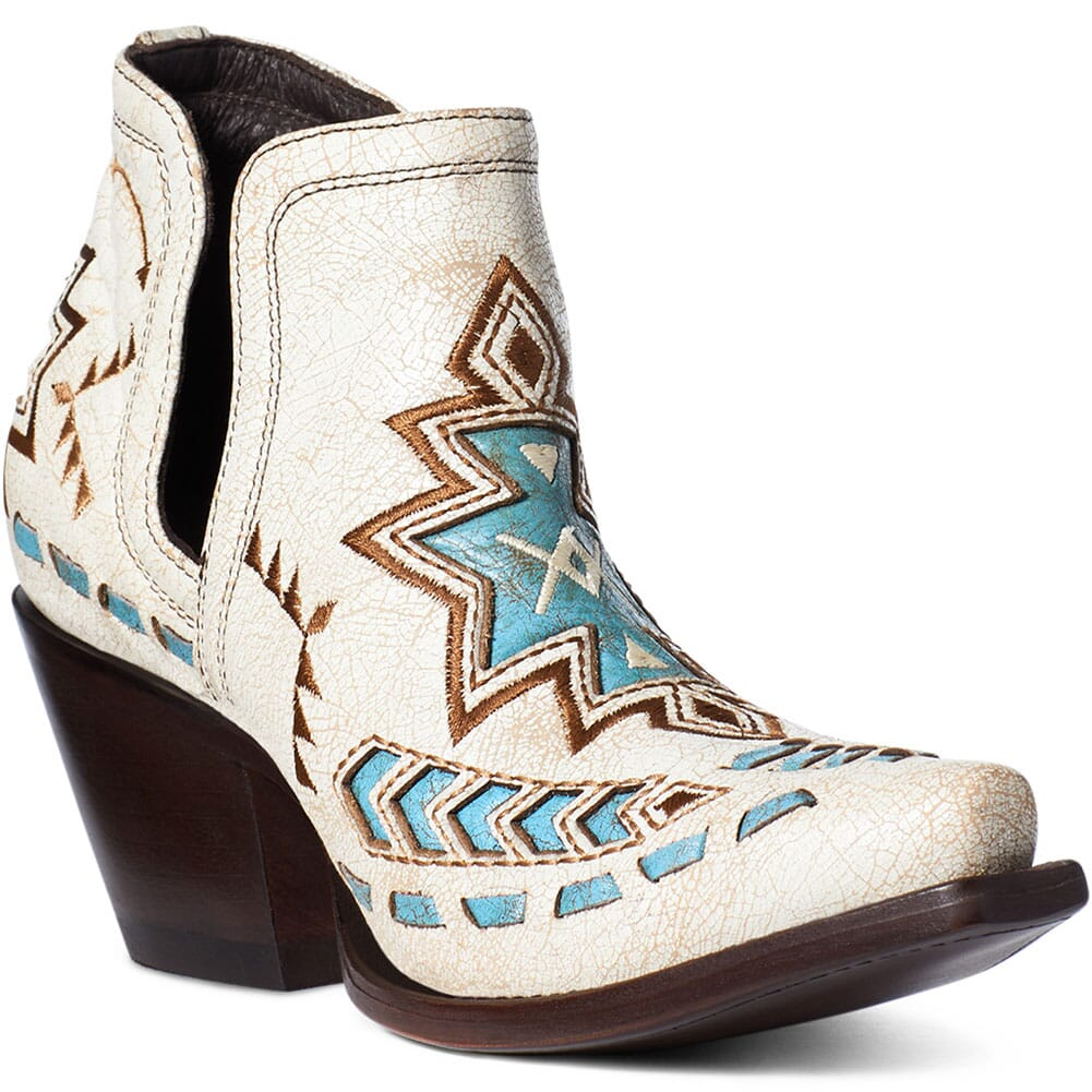 Image for Ariat Women's Dixon Aztec Western Boots - Crackled White from bootbay