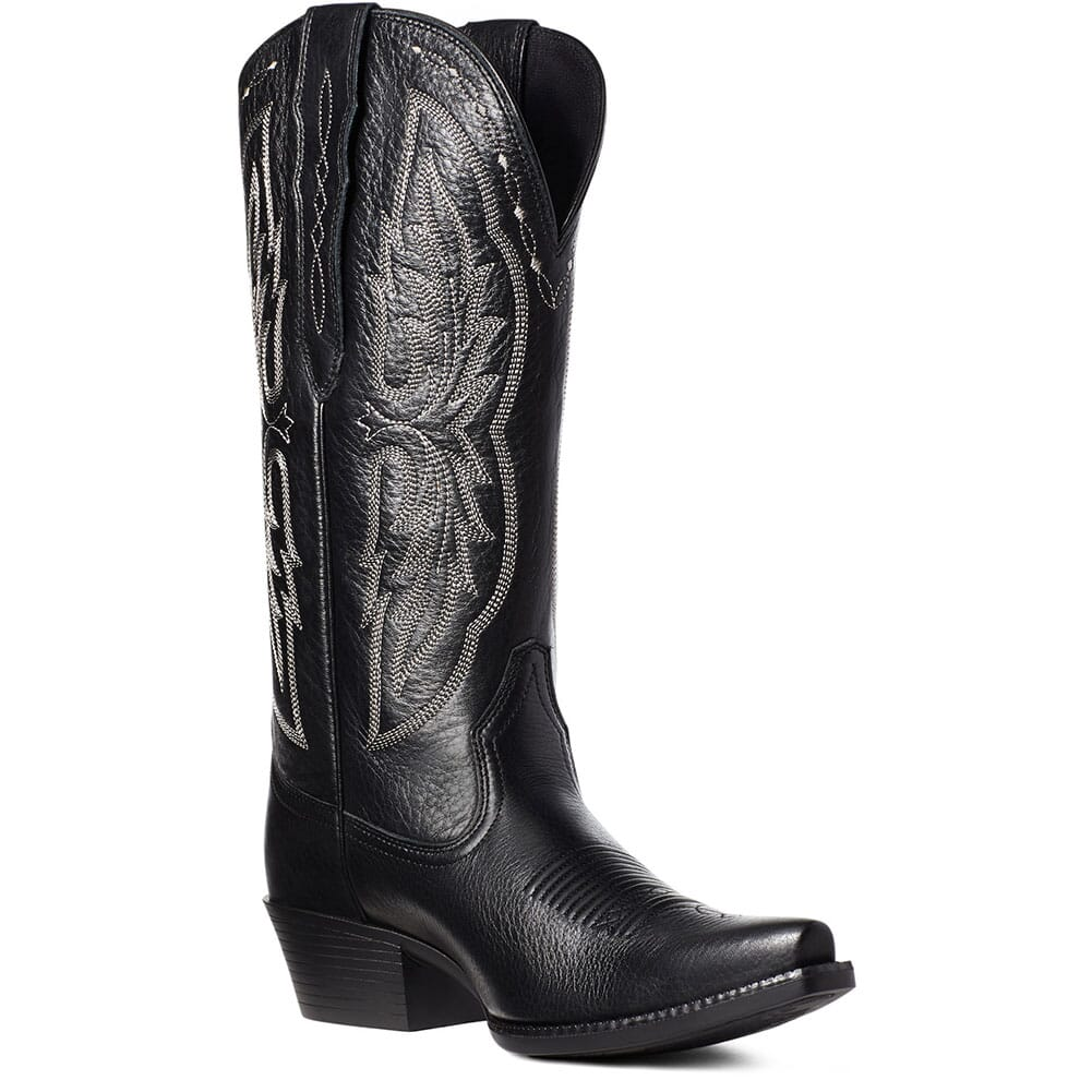 Image for Ariat Women's Heritage Elastic Calf Western Boots - Black from bootbay