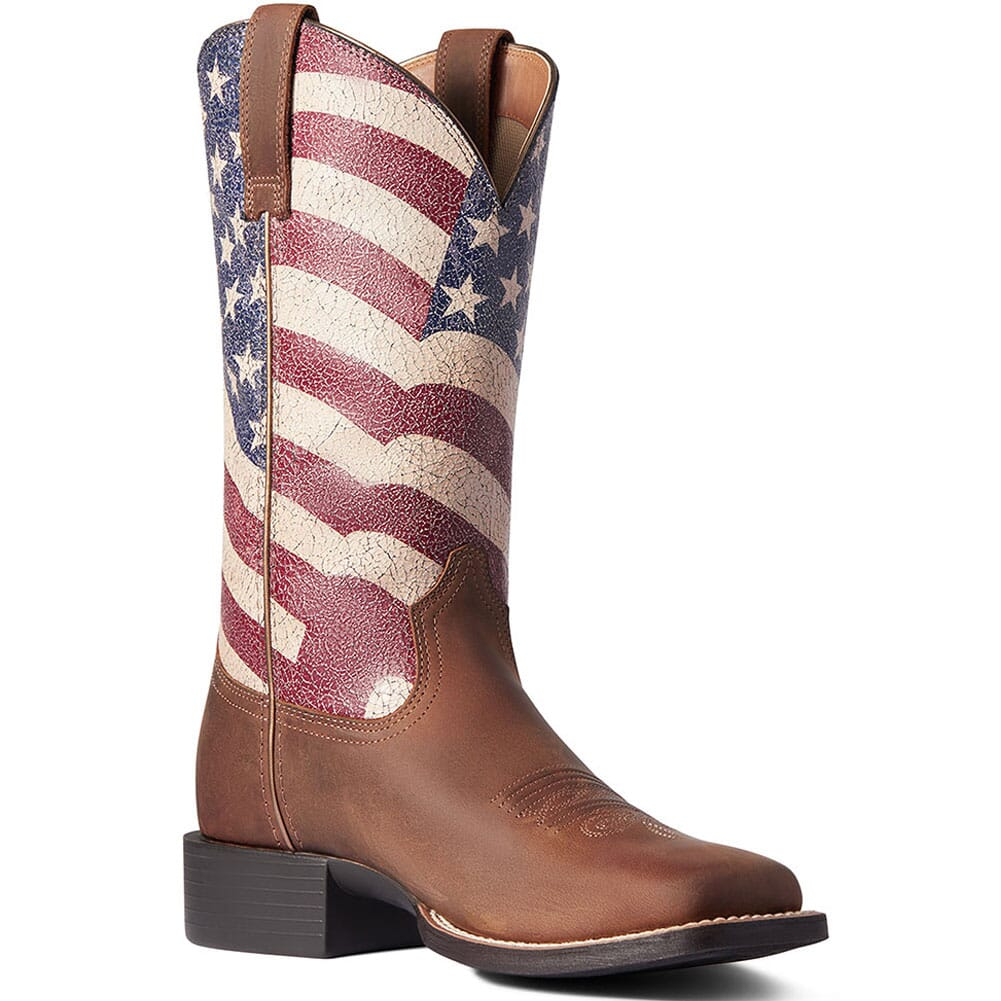 Image for Ariat Women's Round Up Patriot Western Boots - Brown from elliottsboots