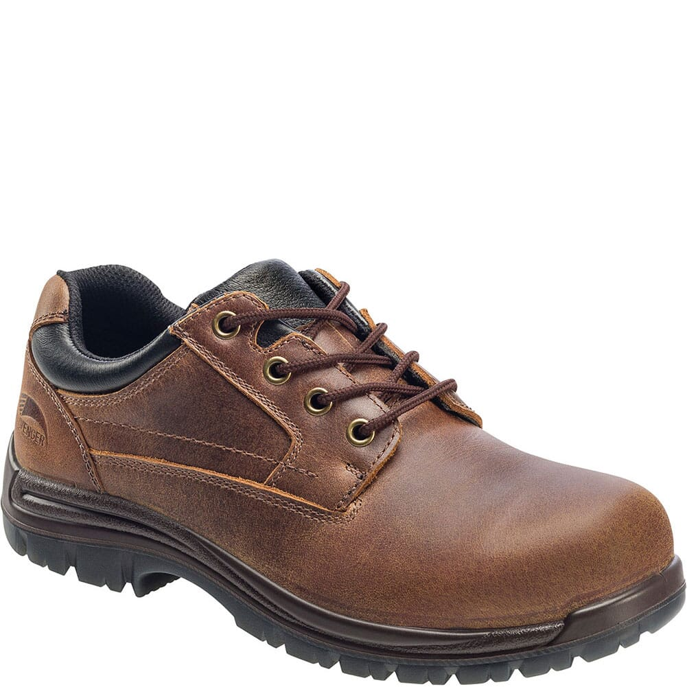Image for Avenger Men's EH Slip Resistant Safety Shoes - Brown from bootbay