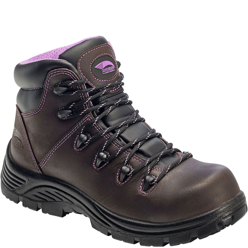 Image for Avenger Women's WP Puncture Resistant EH Safety Boots - Brown from bootbay