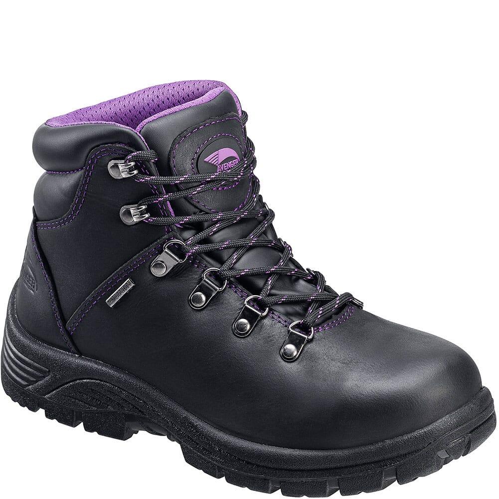 Image for Avenger Women's Slip Resistant EH Safety Boots - Black from elliottsboots